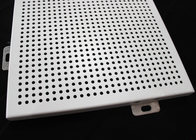Roof Aluminum Wall Panels / Perforated Acoustic Metal Ceiling Tiles Sheet
